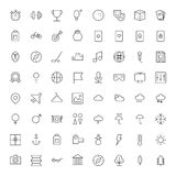 Thin Line Icons For Leisure, Sport, Travel and Weather Stock Photo