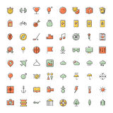 Thin line icons for leisure, travel and sport. Vector illustration Stock Photography