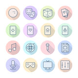 Thin Line Icons For Leisure Stock Photo