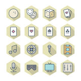 Thin Line Icons For Leisure Royalty Free Stock Photography