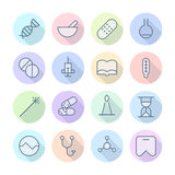 Thin Line Icons For Medical Stock Photo