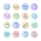 Thin Line Icons For Miscellaneous Stock Photography