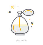 Thin line icons, Perfume Royalty Free Stock Image