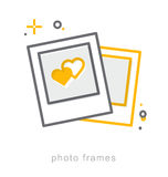 Thin line icons, Photo frames Royalty Free Stock Images