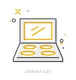Thin line icons, Powder box Stock Image
