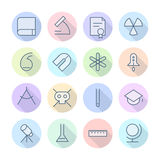 Thin Line Icons For Science and Education Royalty Free Stock Photo
