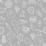 Thin line icons seamless pattern. Stock Images