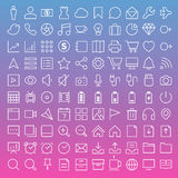 Thin Line Icons Set Royalty Free Stock Photos