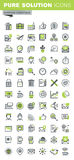 Thin line icons set of business royalty free illustration