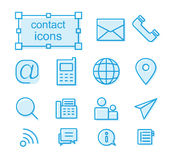 Thin line icons set, contact Royalty Free Stock Images