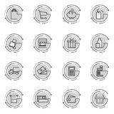Thin line icons set of e-commerce, shopping, store, trade. Royalty Free Stock Image