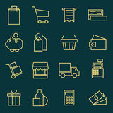 Thin line icons set of e-commerce, shopping, store, trade. Stock Image