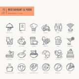 Thin line icons set for food and drink Stock Photography