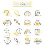 Thin line icons set, food Royalty Free Stock Photography