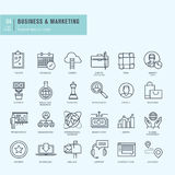 Thin line icons set. Icons for business. Royalty Free Stock Images