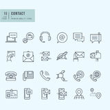 Thin line icons set. Icons for communication. Royalty Free Stock Photo