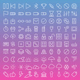 Thin Line Icons set Stock Images