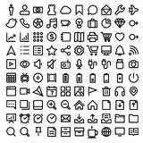 Thin Line Icons set Royalty Free Stock Images