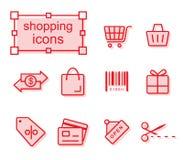 Thin line icons set, Shopping Royalty Free Stock Photos
