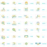 Thin line icons set of sport, summer olympic games. Royalty Free Stock Photography