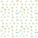 Thin line icons set of sport, summer olympic games. Stock Photography
