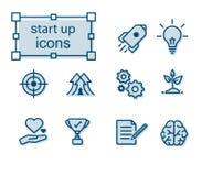 Thin line icons set, Start up. Thin line icons set, Linear symbols set,  Start up Royalty Free Stock Photo