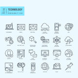 Thin line icons set Stock Image