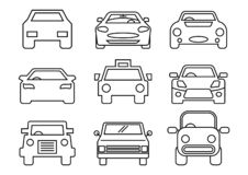 Thin line icons transportation. Thin line icons set,transportation,Car front,vector illustrations vector illustration