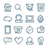 Thin line icons set, vector illustration Stock Photos