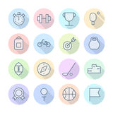 Thin Line Icons For Sport Royalty Free Stock Photography
