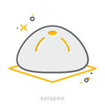 Thin line icons, Steamed buns royalty free illustration