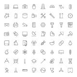 Thin Line Icons For Technology, Industry and Science Stock Photography