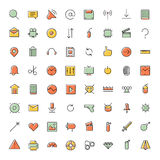 Thin line icons for user interface and technology Royalty Free Stock Photos