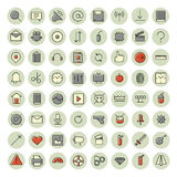 Thin line icons for user interface and technology Stock Images