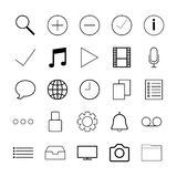 Thin line icons for Web Stock Image