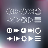 Thin line icons for web and mobile Royalty Free Stock Photo