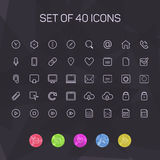 Thin line icons for Web and Mobile. vector Stock Photography