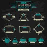 Thin line labels and design elements collection Stock Images