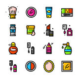 Thin line Makeup icons set, vector illustration Royalty Free Stock Photography
