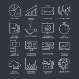 Thin line marketing icons set Royalty Free Stock Photography