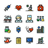 Thin line Medical icons set, vector illustration Stock Photography