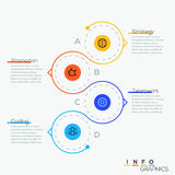 Thin line minimal arrow business cycle template. Thin line minimal circle arrow business infographic timeline template. Vector illustration. Can be used for Stock Photo