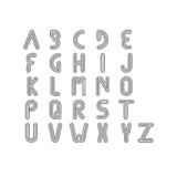 Thin line and narrow English alphabets or letters Royalty Free Stock Photos