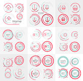 Thin line neat design large logo collection Stock Photography