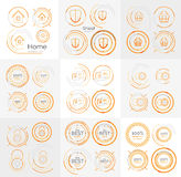 Thin line neat design large logo collection Royalty Free Stock Images