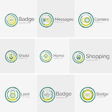 Thin line neat design logo collection Royalty Free Stock Images