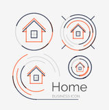 Thin line neat design logo set, home idea Stock Images