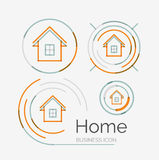 Thin line neat design logo set, home idea Royalty Free Stock Photo