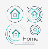 Thin line neat design logo set, home idea Stock Photo