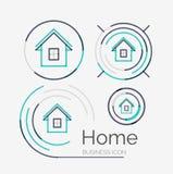 Thin line neat design logo set, home idea Stock Photo